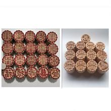5CM大直径木质印章 馒?#32442;?#20855; 冰皮月饼面食糕点心饽饽用凸印章