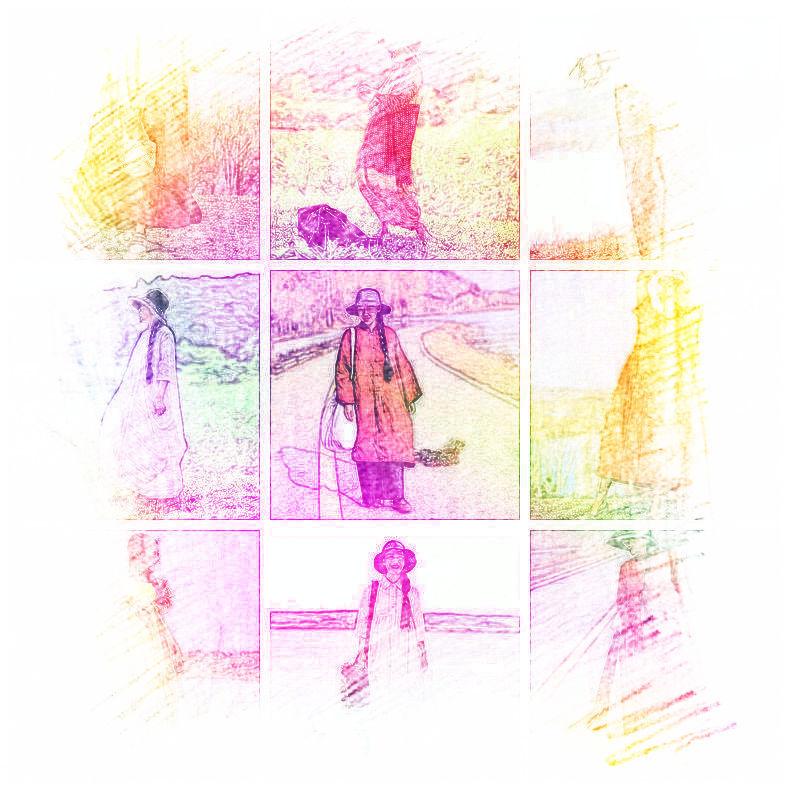 滋原创 夏季新款文艺风清新纯苎麻八分袖宽松长款连衣裙袍子 妮儿