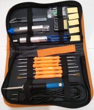 美規電烙鐵工具包套裝19件 110V恒溫烙鐵60W 裝耐高溫陶瓷發熱芯
