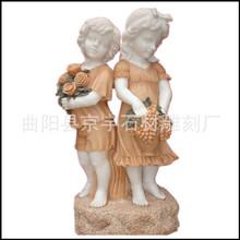 石雕西方人物雕像大理石雕刻天使雕塑欧式人物雕像户外景观摆件