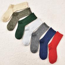 新款日系金銀絲襪子女士純色中筒堆堆襪夏季薄款透氣吸汗女襪批發