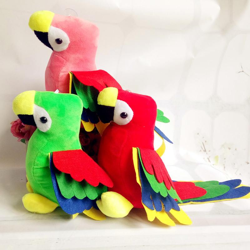 仿真彩色鹦鹉毛绒玩具卡通动漫长尾小鹦鹉公仔婚庆抓机布娃娃批发