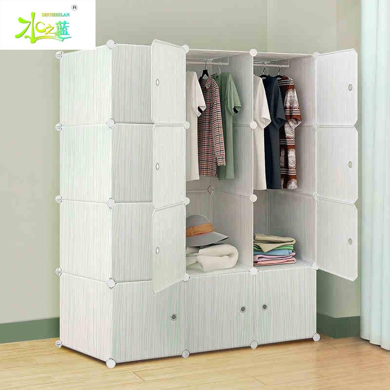 简易衣柜塑料简约现代衣橱经济型组装钢架组合折叠单人收纳