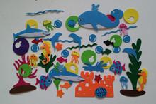 批发幼儿园小学无纺布海洋系列装饰鲨鱼海豚城堡海草珊瑚海马鱼群