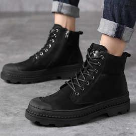 马丁靴男靴子冬季真皮靴男士雪地短靴高帮单靴中帮工装男鞋军靴潮