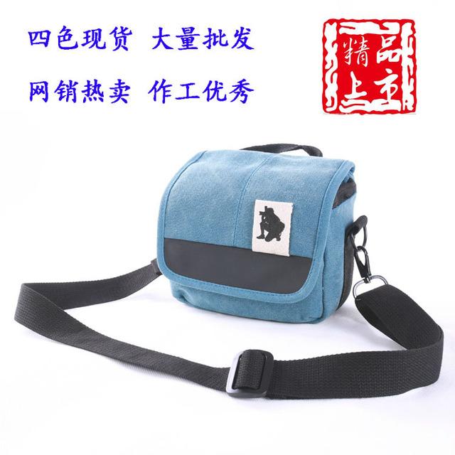 背包客帆布单反摄影包微单单肩相机包索尼A6000 A7R RX100相机包