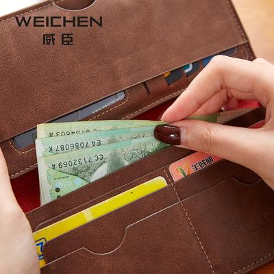 Wesson ladies wallet 2018 phiên bản Hàn Quốc mới của các mô hình tăng trưởng nữ đơn giản màu rắn đa thẻ vị trí siêu mỏng phần 2 ví