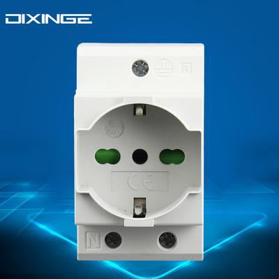 配电箱 配电柜意大利规10A意标模数化电源插座 16A德意式导轨插座