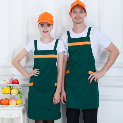 Chef overalls Supermarket work clothes fruit shop restaurant Internet cafes waiters embroidered logo customization