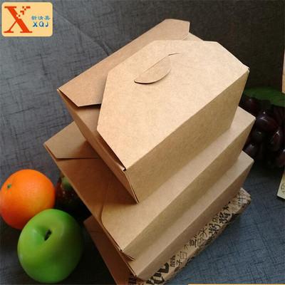 便当盒 现货批发牛皮纸便当盒 苏州定制便当盒价格
