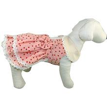 廠家直銷寵物服裝 娃娃領草莓公主裙 庫存清倉寵物裙子量大價優