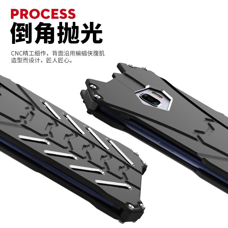 R-Just Batman Shockproof Aluminum Shell Metal Case with Custom Batarang Stent for Samsung Galaxy C9 Pro / C7 Pro / C7 / C5 Pro / C5