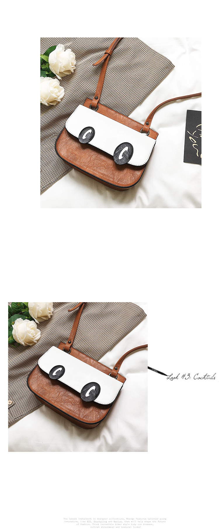 Korean version PUfashion bag (brown)NHPB0088-brown