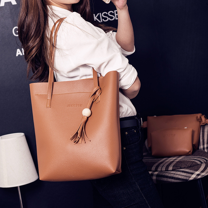 Korean version PUShoulder Bags (brown)NHPB0499-brown