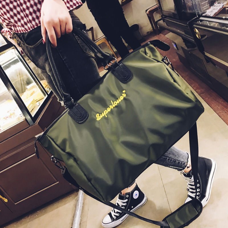 批发女士短途旅行登山包韩版大容量牛津布手提行李健身包一件代发