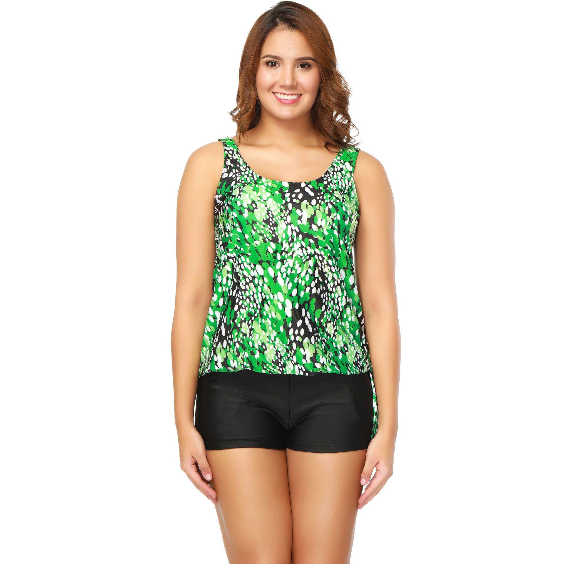 Cotton FashionLarge size swimsuit(Gray-M) NHYS0032-Gray-M