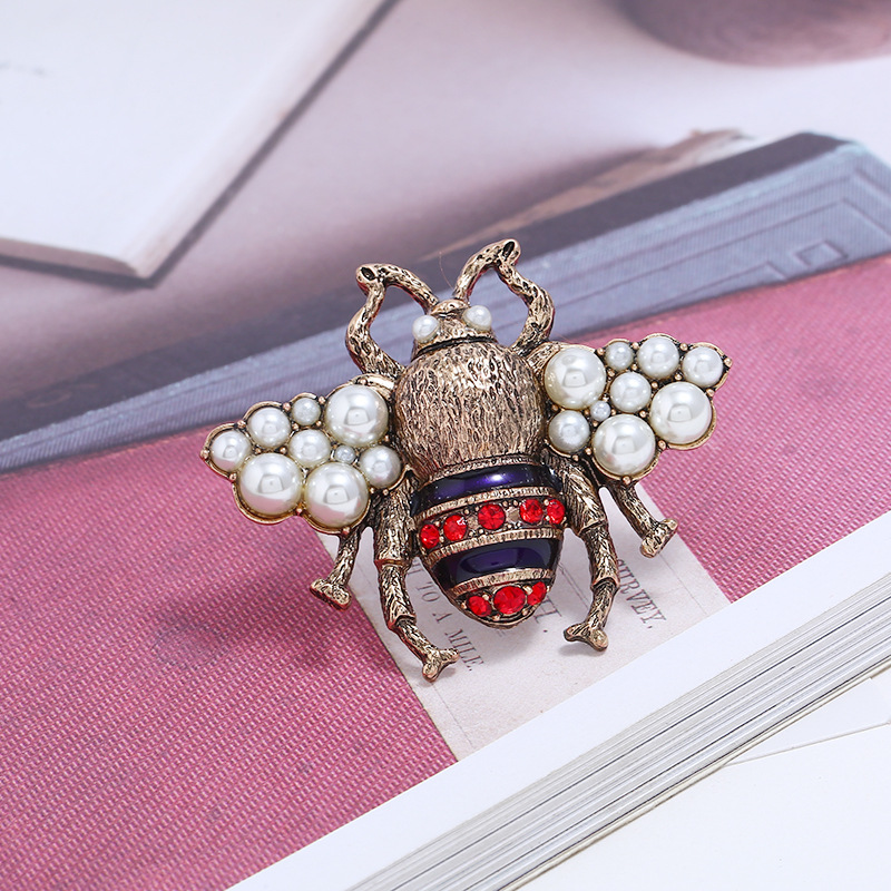Fashion Alloy plating brooch Animal (Old alloy white)  NHKQ1452-Old alloy white