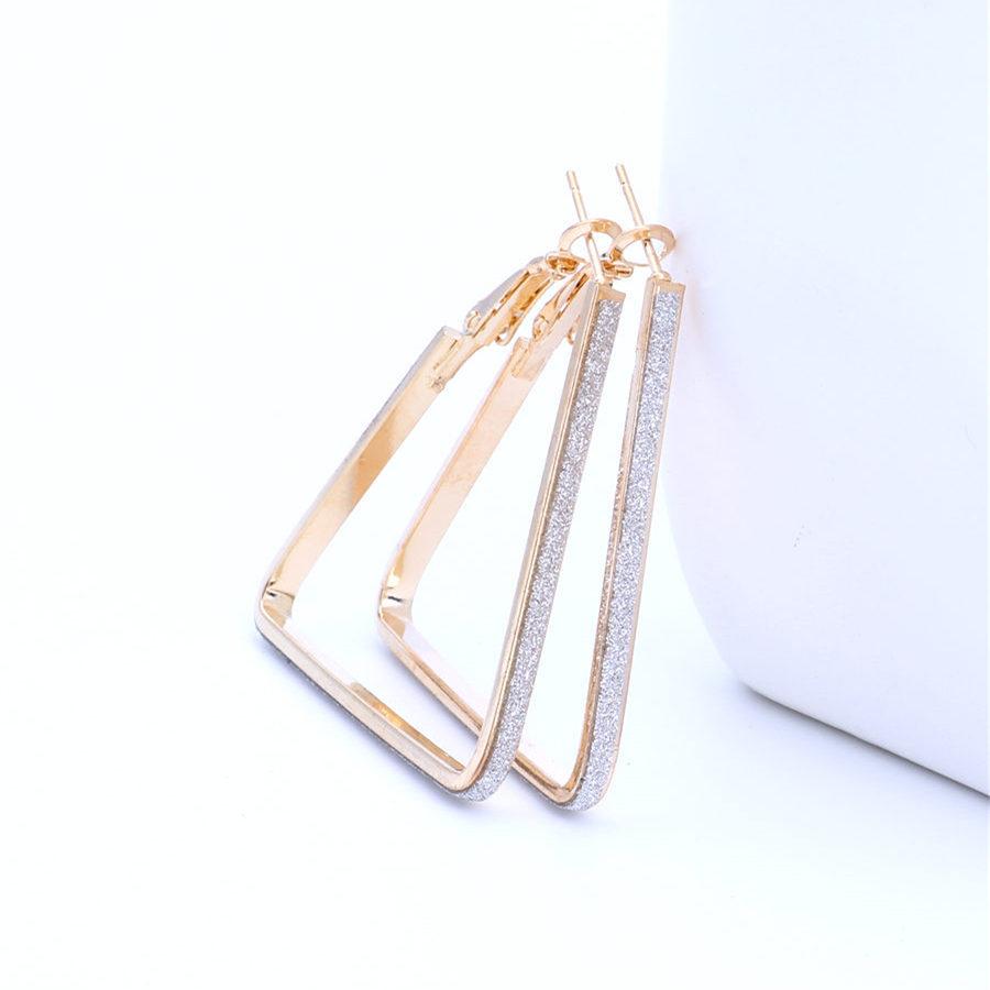 Fashion Imitated crystal&CZ plating earring Geometric (Alloy 4cm)  NHIM1050-Alloy 4cm
