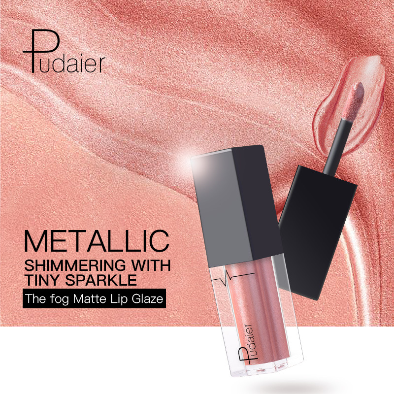 Pudaier P1215# 24 color metal lip gloss main picture