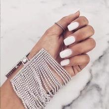 B0696 欧美热销时尚饰品 多层合金镶钻手链 爪链 厂家货源