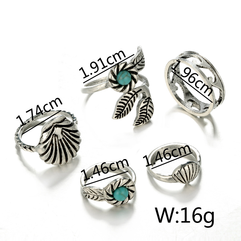 Other Alloy plating Rings Geometric (The main color)  NHGY0980-The main color