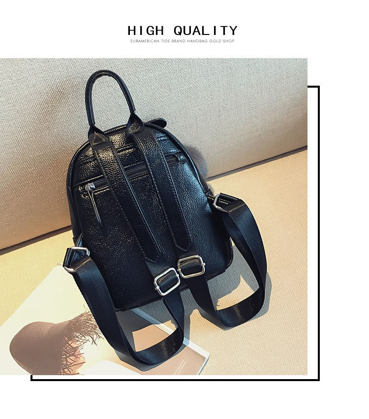 Korean version PUfashion bag (black)NHPB0111-black