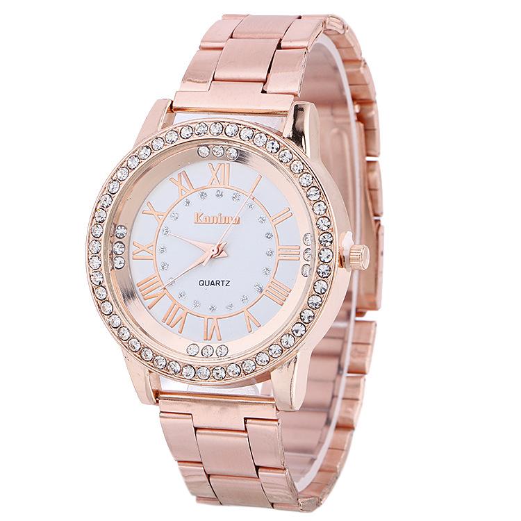 Women'S Popular Bracelet Watch Korean Version Diamond Dial Steel Band Watch