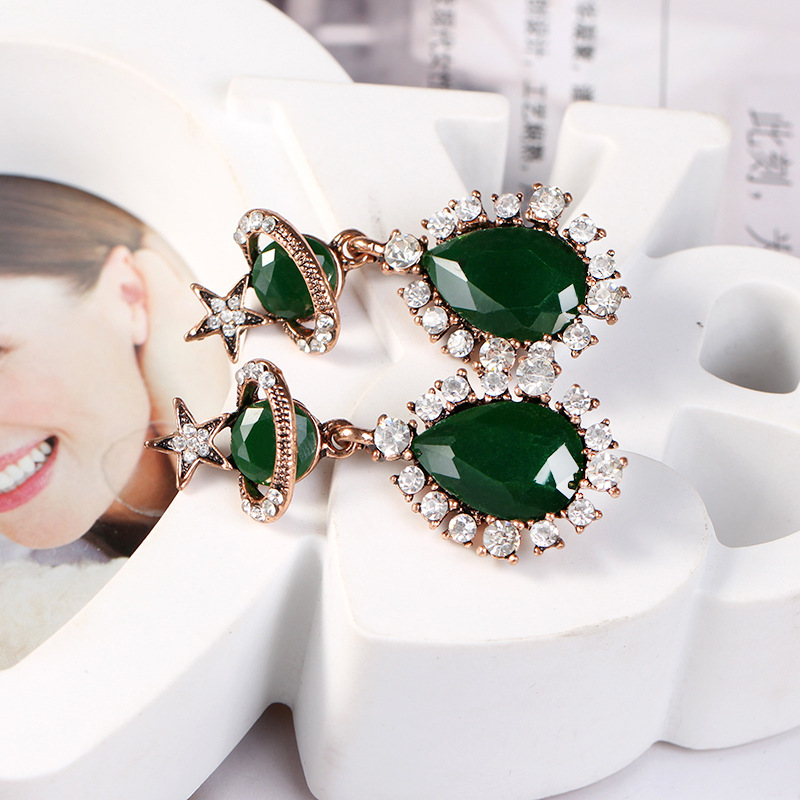 Fashion Alloy plating earring Geometric (black)  NHKQ1423-black