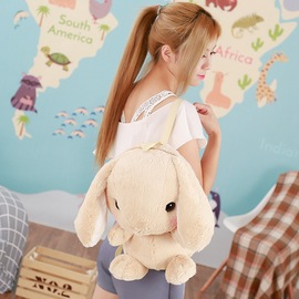 New plush rabbit backpack flying in the kneeling lop rabbit doll girl birthday gift generation