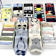 三只企鹅男女士中筒袜 实体店地摊盒装短袜 淘宝微商分销礼品袜子