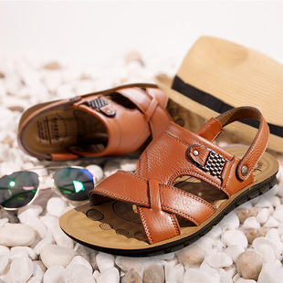 2020 men's casual sandals and slippers beach shoes men's vietnamese sandals stall running rivers and lakes shoes wholesale
