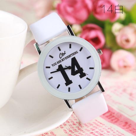 1314 đơn giản, bán nóng Taobao phiên bản tiếng Hàn của đồng hồ nam và nữ sinh viên thời trang phổ biến
