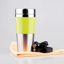 厂家直销 100度烧水壶保温杯 便捷双层防烫 车用不锈钢加热杯