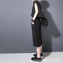 欧美大牌2018夏新款女装无袖棉麻背心裙修身显瘦中长款连衣裙205