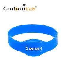 游樂場會員管理門禁消費積分防水RFID射頻感應rfid硅膠手腕帶卡