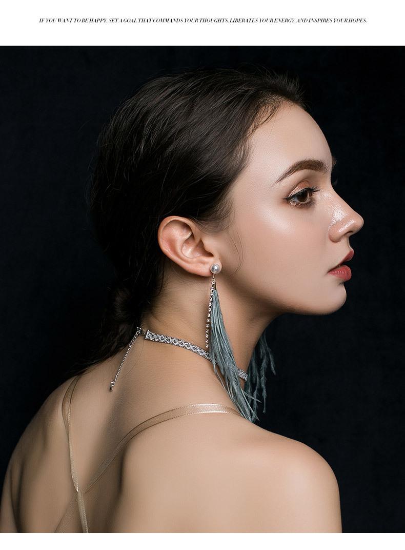 Alloy Vintage Tassel earring  green  Fashion Jewelry NHLL0320green