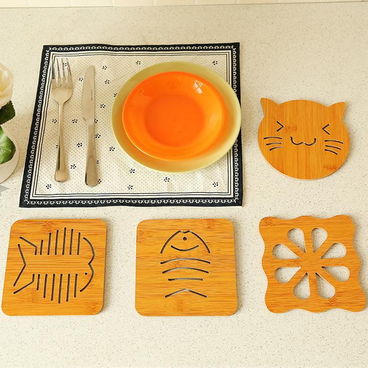 镂空木质杯垫 厨房加厚防烫隔热垫餐垫 防滑锅垫碗垫盘垫