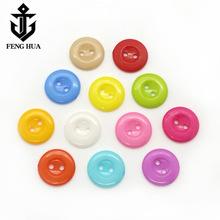 圆形两眼儿童卡通纽扣 糖果色碗形塑料钮扣 幼儿衬衫手工DIY扣子