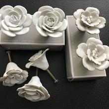 特色手工玫瑰花  陶瓷手把   外貿出口拉手  歐式仿古田園風格