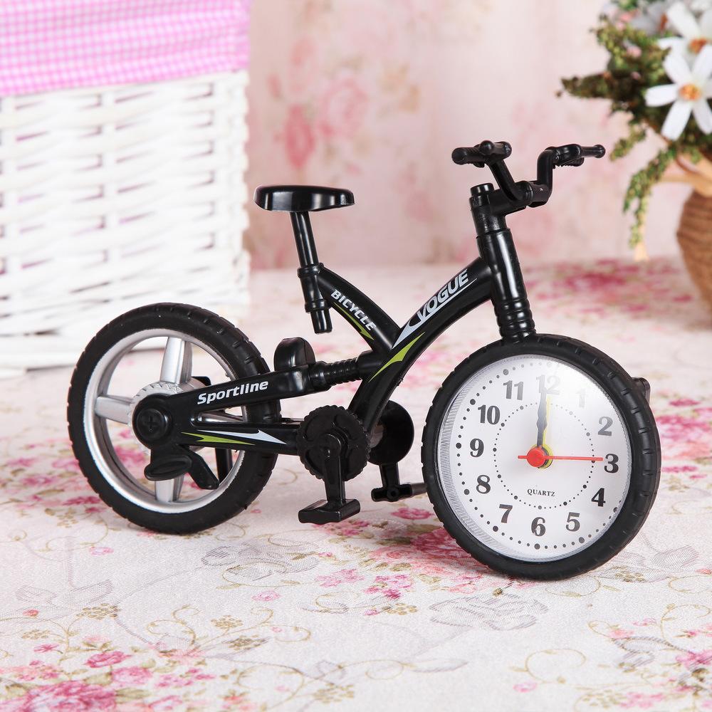 厂家直销七彩自行车闹钟 创意个性儿童闹钟 学生礼品赠品书房摆件