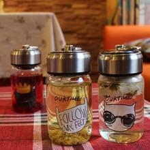 新款玻璃杯 透明男女学生创意手提便携单层耐热茶水杯子批发定制