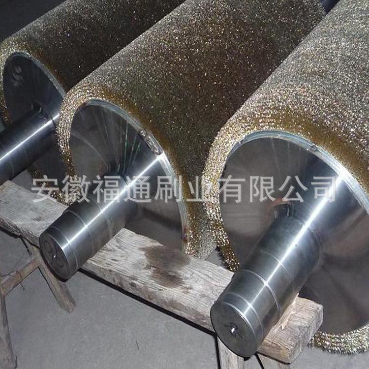 加工定制各种钢丝辊 抛光打磨除锈毛刷辊 抛光钢丝刷