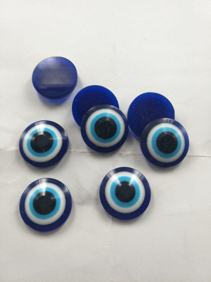 diy饰品 土耳其 恶魔之眼 蓝色眼睛 平底树脂眼睛 鱼眼睛