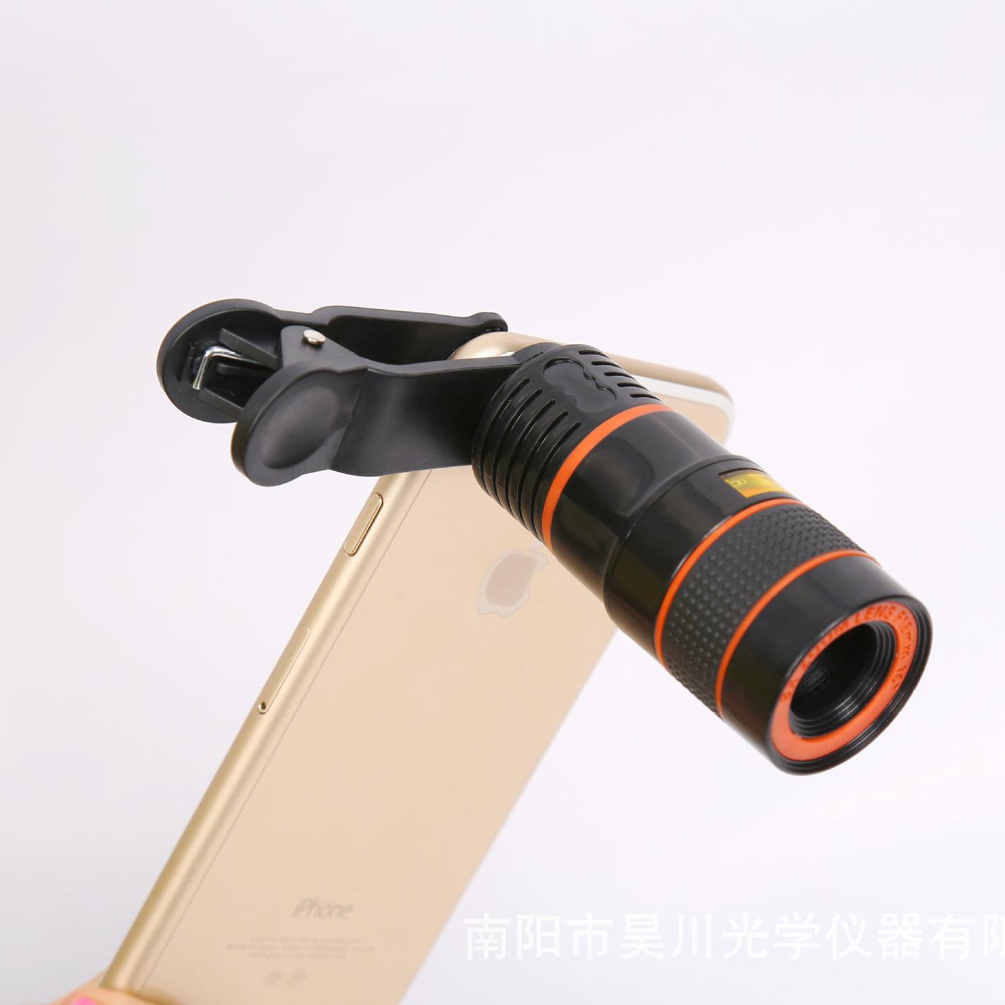 厂家供应手机拍照望远镜 8倍手机望远镜 黑白桔圈手机外挂镜头
