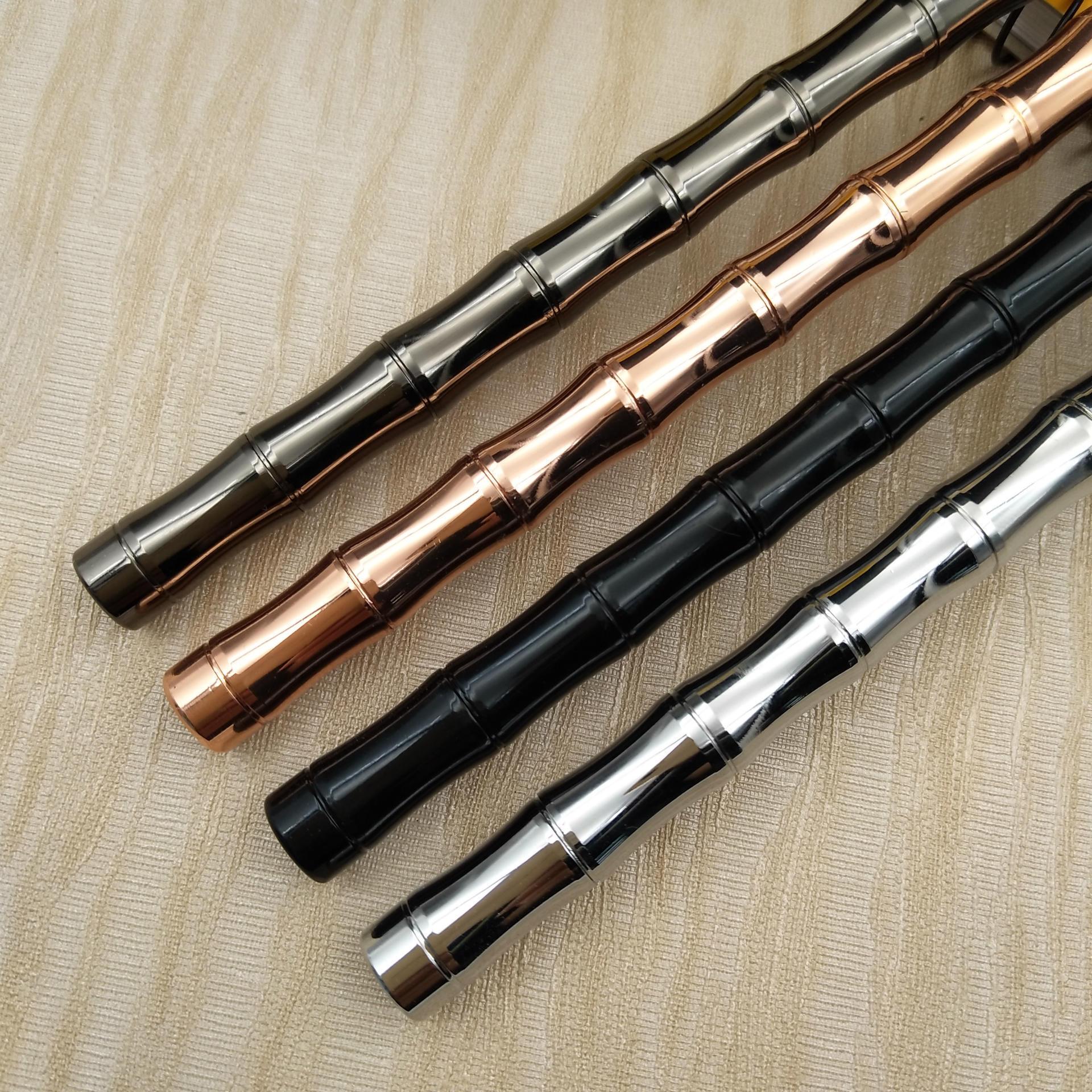 厂家直销    电镀多色竹节黄铜笔    金属中性签字笔