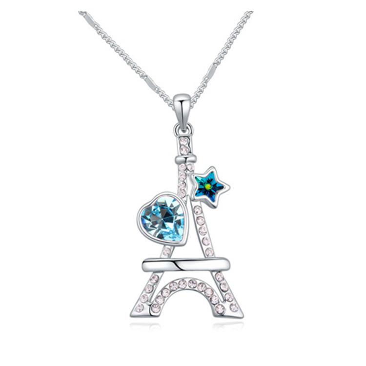 Womens Other Plating Alloys Eiffel Tower Necklaces NHLJ126525