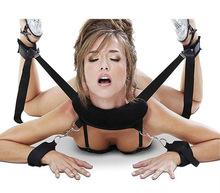 夫妻性玩具升級版女用張腿束縛帶皮革女性情趣捆綁分腿成人性用品