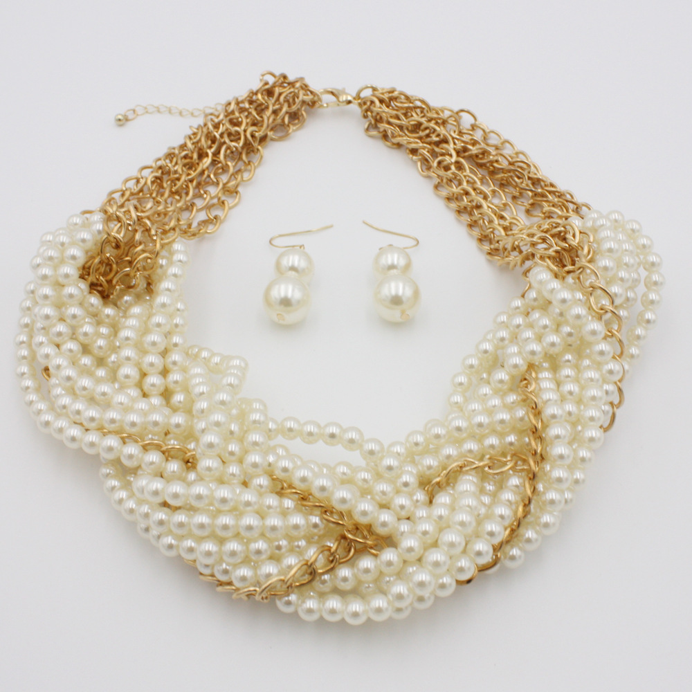 Occident and the United States pearlnecklace (creamy-white)NHCT0030-creamy-white