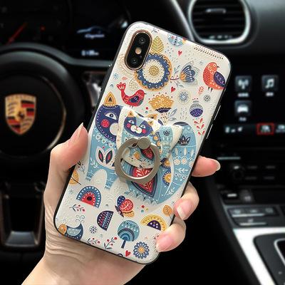 Văn học và nghệ thuật nhỏ rõ ràng iPhone x vỏ điện thoại di động dập nổi apple 8 bảo vệ bìa 7 Cộng Với matte new