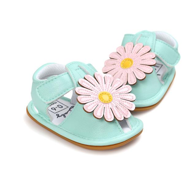 Hoa vàng mới mùa hè dép em bé giày đế mềm đế cao su đế giày em bé Chen Chen Ma 7499 Dép trẻ em